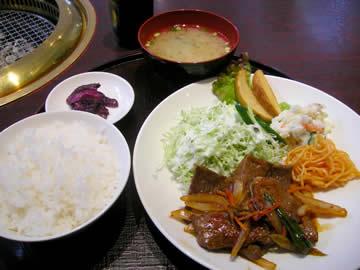 焼肉レストラン赤門の焼肉定食