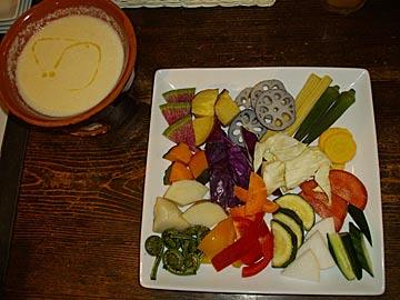 バーカロ BACAROの野菜のパーニャカウダ