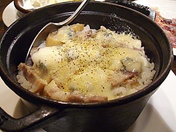 バーカロ BACAROのゴルゴンゾーラとベーコンの炊き込みご飯