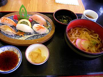 大名そば西村の寿司定食