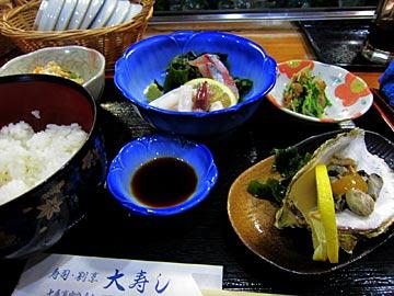 大寿司の日替わりランチ刺身付