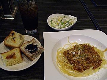 ドスボローニャダイニングのスパゲッティランチ