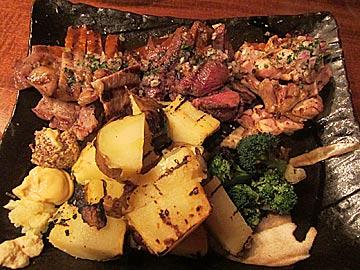グリエ ジョー(grillerjoe)のお肉のグリエ盛り合わせ(シャモ・金華豚・黒毛和牛)