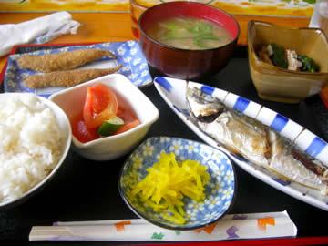 ひまわりの焼魚ランチ