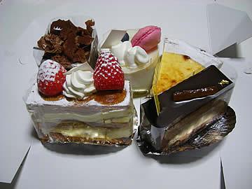 パティスリーホソヤのケーキ