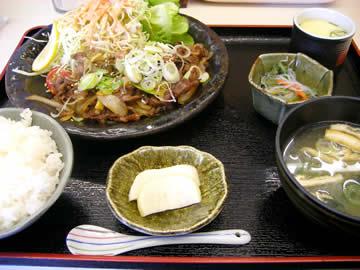 ごはん処一歩の日替わりランチ(焼肉定食)