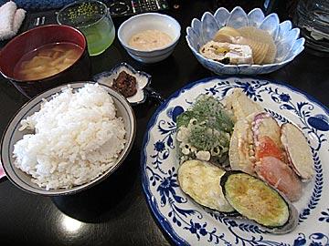 酒&喫茶 彩の天ぷらランチ
