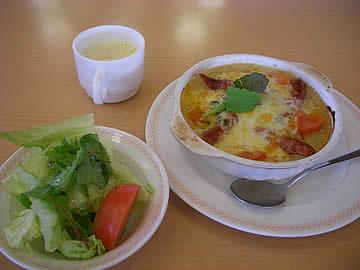 ジョイフルのチーズトマトドリアとスナックセット