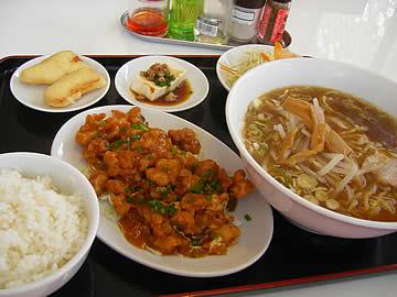 華府味道の鶏のエビチリランチ