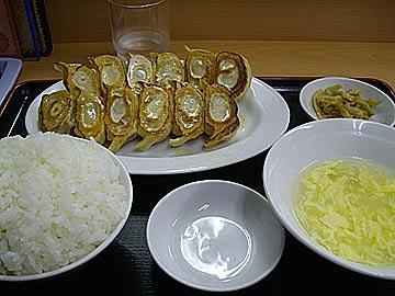 金石餃子の餃子ライスセット