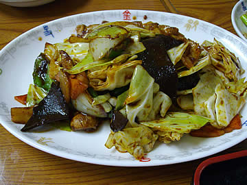 華林楼の回鍋肉定食