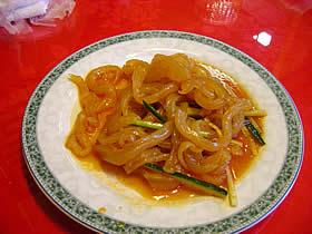 華龍亭のくらげの冷菜