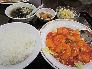 金鼎(キンテイ)のエビチリ定食