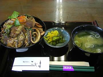 「和風レストランこじま」の「のといしり丼」