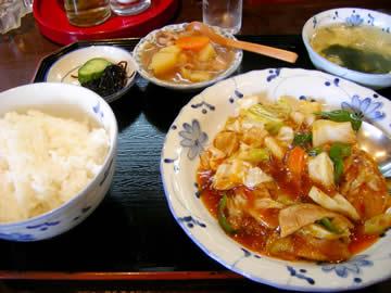 中華料理香林の回鍋肉定食