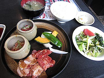 焼肉 蔵 七尾店の壷つけ定食