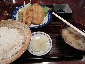 洋食くさま(串かつ草間)の串あげ定食