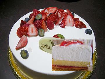 ラ・パレットのバースディケーキ