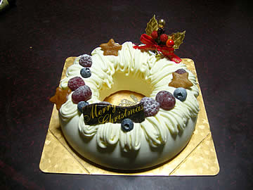 ロンシャンのクリスマスケーキ イルネージュ