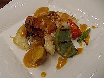 MEGU野々市店のオマール海老と帆立貝のロティ