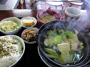 お食事処 みずのタラ鍋の定食