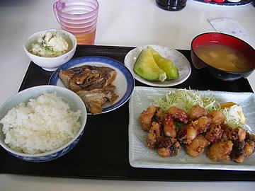 お食事処みずのタコの唐揚の定食