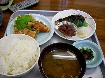 七尾港港湾福祉センターの食堂の日替わり定食