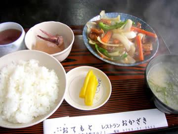 レストランおかざきの日替わり定食