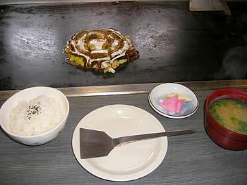 お好み焼ルル(Ruru)のお好み焼き定食