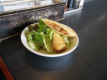 龍苑 穴水のエビとアスパラ炒め・春巻のランチ