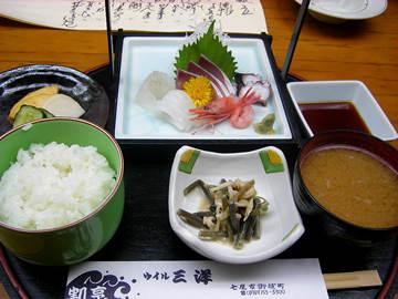 ウイル三洋の刺身定食