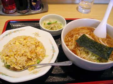 中華居酒屋 蘇州のラーメン・炒飯セット