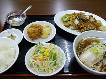 中華料理 翠園の八宝菜定食