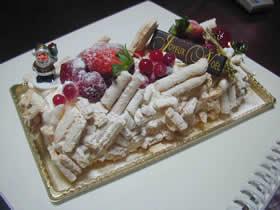 サンニコラのヴァシュランのクリスマスケーキ