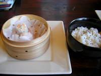 上海凱門の点心盛りと栗の炊き込みご飯