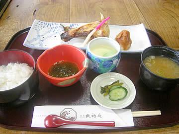 大社庵のぶりかま塩焼き定食