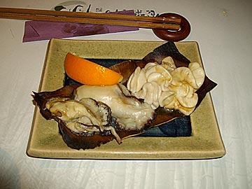 食楽空間 朋の牡蠣と白子の焼き物
