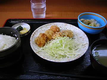 中島ロマン峠 峠茶屋のおろしとり立田定食