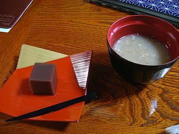 蕎麦処 上杉の蕎麦粥と水ようかん