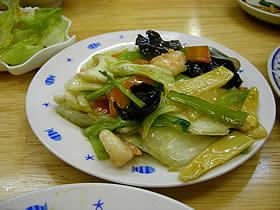 和香樓(和香楼)の海鮮と野菜炒め