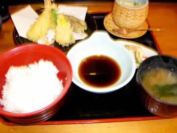 膳座の天麩羅定食