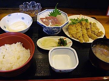 膳座の日替わり定食