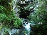 白骨温泉の冠水渓と隊通し