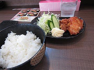 麺屋 源 西開発店の唐揚定食