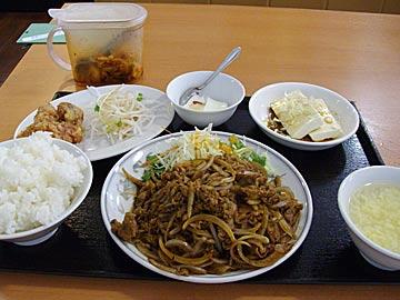 四川料理興龍のコマ焼きランチ