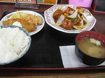 餃子の王将 丸岡店の酢豚ランチ