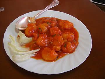 中国料理 龍昇のエビチリ