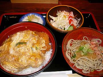 蕎麦・天婦羅 やす竹のかつ丼セット