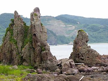 赤神海岸の岩