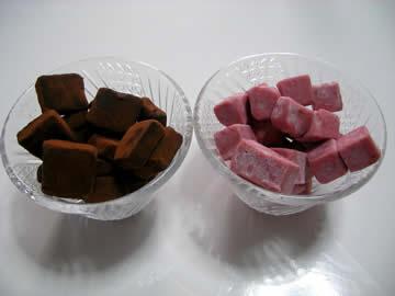 フランツの魔法の生チョコ(苺)と魔法の生チョコレート